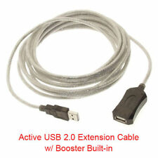 15Ft USB 2.0 High Speed Type A Male to Female Active Extension Cable w/ Booster
