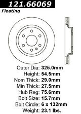 Centric Parts 121.66069 Front Disc Brake Rotor