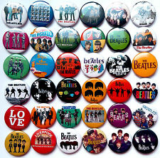 THE BEATLES SET#1 Pins Buttons Badges Revolver A Hard Day's Night Love Lot of 36