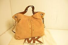 Authentic Michael Kors Uptown Astor Hobo Beautiful Beige With Gold Hardware