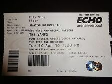 The Vamps / Conor Maynard Used Concert Ticket - April 16 Liverpool