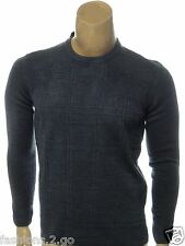 TRICOTS ST RAPHAEL NEW $65.00 MARINE BLUE CASUAL CREWNECK SWEATER sz S