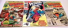 3 VINTAGE HOWARD THE DUCK COMICS 1 8 16 Trapped in a World He never made Movie