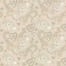 NORTH WOODS HEARTS BIRDS NORDIC CHRISTMAS FABRIC