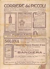 CORRIERE DEI PICCOLI 5 FEBBRAIO 1911 anno III NUMERO 6 CON SOVRACOPERTINA SPED