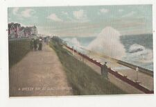 A Breezy Day At Clacton On Sea Vintage Postcard 361a