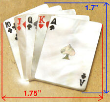PH9# Playing Card Inlay White, Black Mother of Pearl& Red Acrylic 1.5mm thick