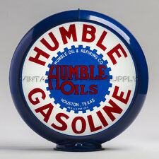 "Humble 13.5"" Gas Pump Globe w/ Red Plastic Body (G141)"