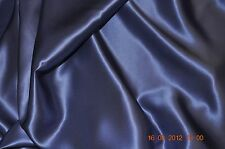 Pure silk crepe back satin, 19 momme, 114 cm, hyacinth, sold by half meter