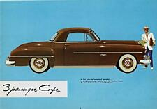 Old Print. Brown 1951 Dodge Wayfarer Three Passenger Coupe Auto Ad