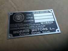 morris minor chassis plate BD4-A4-f