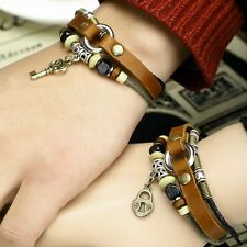 Lock and Key Couples Bracelet Lovers Braclet his and hers Friendship CP-365