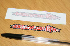 "Simoncelli ""Race Your Life"" Screen Decals (Pair) - Small"