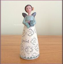 OCTOBER BIRTHDAY WISH ANGEL FIGURE BY KELLY RAE ROBERTS FREE U.S. SHIPPING