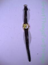 Armitron Tweety Wristwatch Womens Girls Leather Norwegian Watch Quartz Analog