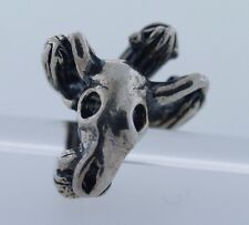 Authentic Trollbeads Old West US11405 New Silver Charm Bead Cactus Horn