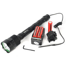 Hunting 6000LM 3X XM-L T6 LED Flashlight Torch+18650+Mount Gun+Pressure Switch