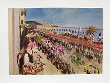 """HENRI MATISSE """" FESTIVAL OF FLOWERS"""" Plate Signed Lithograph"""