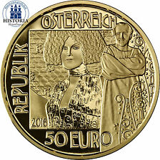 Österreich 50 Euro Gold 2016 PP Klimt und seine Frauen: Der Kuss