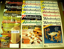 LOT of 19 WOODWORKERS JOURNAL MAGAZINES - SEE LIST - MY LOT # 368
