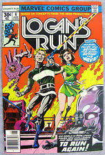 Logans Run #6 1977 1st Solo Thanos Story + Drax the Destroyer KEY Issue Logan's