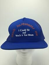 Work Fascinate Me Blue Snapback Flat Bill Funny Mesh Trucker Hat New Vintage