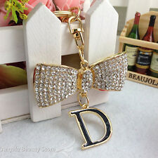 Lovely Cute Special Tie Knot Rhinestone Crystal Charm Pendant Key Bag Chain Gift