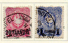 Germany - Selection from 1884 PO in Turkey set. Scott #2-3. USED