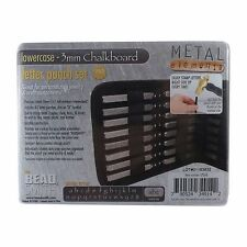 3mm Chalkboard LOWERCASE Letter Stamp Set Punch 27 Piece Steel Metal Alphabet