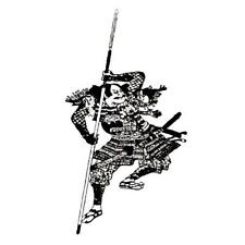 Japanese SAMURAI Warrior unmounted rubber stamp #12