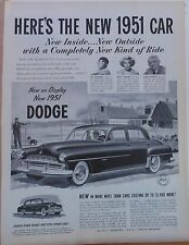Vintage 1951 magazine ad for Dodge - Ted Williams likes the new Dodge