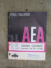 1961 AEA Car Light Truck Fast Moving Parts Catalog Electrical Fuel System Auto T