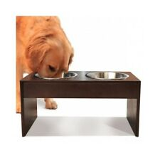 Large Dog Elevated Feeder Double Dish Food Water Bowls Tall Big Breed Raised NEW