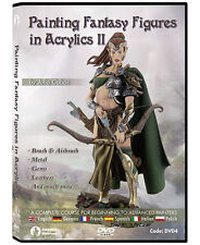 Andrea Miniatures Painting Fantasy Figures (2) in acrylics Julio Cabos DVD