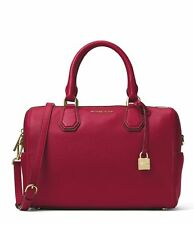 NWT MICHAEL KORS MERCER MEDIUM DUFFEL BAG  SATCHEL HANDBAG TOTE *CHERRY*
