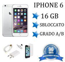 APPLE IPHONE 6 16GB GRADO AB BIANCO ORIGINALE RIGENERATO RICONDIZIONATO USATO