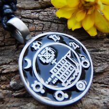 Talisman Magical Power Figure of Happiness Pewter Pendant &Cotton Necklace #389