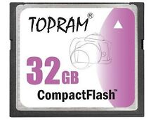 TOPRAM 32GB CF 32G CF Compact Flash 266X memory card high Speed w/case