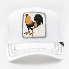 New Gold Star Cock Fighting White Mens Trucker Hat - One Size