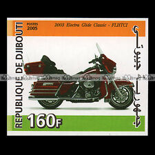 ★ HARLEY FLHTC ELECTRA GLIDE CLASSIC 2003 ★ DJIBOUTI Timbre Moto Motorcycle #245