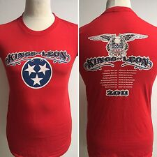 KINGS OF LEON 2011 European Tour T Shirt OFFICIAL Size Small