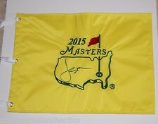 JORDAN SPIETH SIGNED 2015 THE MASTERS FLAG COA CHAMPION AUGUSTA NATIONAL US OPEN