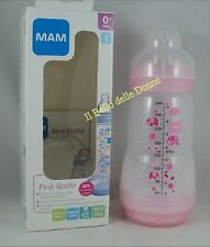 MAM Biberon First bottle 260ml anticolica tettarella flusso 1 mesi 0+ Rosa