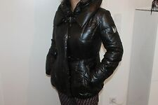 Sportalm TORA Shorts Women'S Coat Jacket Black with Down Filling Size 36 S New