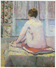 The Red Cushion female nude, Dorothy Cadman print in 11 x 14  inch mount