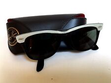 Vintage B&L Ray Ban Wayfarer Rare White Pattern Trim 5022 Sunglasses USA w/Case