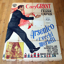 ARSENICO E VECCHI MERLETTI poster manifesto Cary Grant Arsenic and Old Lace
