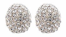 CLIP ON EARRINGS - cluster rhinestone crystals non pierced earrings - Harley