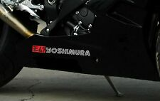 YOSHIMURA EXHAUST Red/Silver Decal Sticker Race Track Bike Sponsor BSB Yoshi