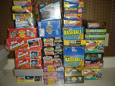 Huge Wholesale Lot of 2000 Old Vintage Baseball Cards in Unopened Sealed Packs